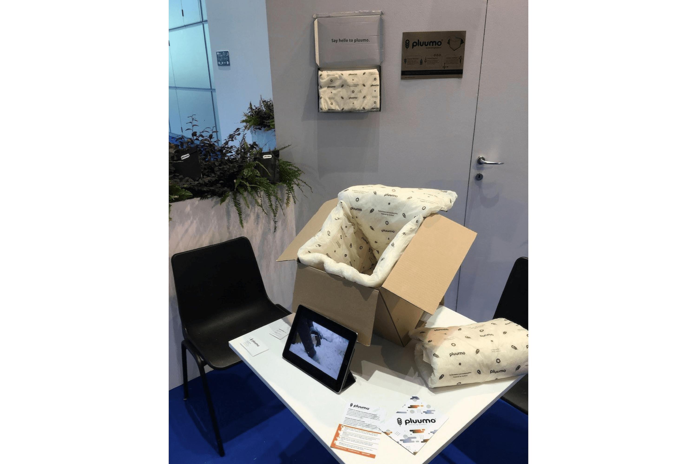 pluumo from Aeriopowder presented in the Ecomondo startup area